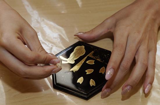 金箔貼り体験イメージ1